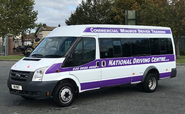 D1 minibus with National Driving Centre signage