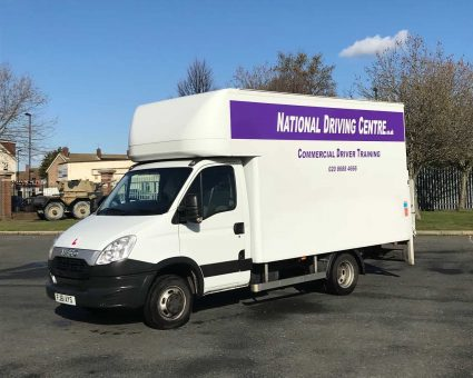 7.5 tonne lorry with National Driving Centre signage
